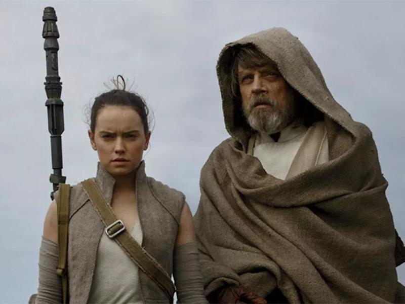 Daisy Ridley and Mark Hamill in Star Wars: 'The Last Jedi.' Credit: Lucasfilm: Lucasfilm