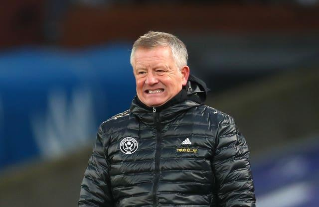 Chris Wilder grimaces during a tough season for relegated Sheffield United. The Blades took the division by storm during the 2019-20 campaign following promotion but failed to replicate that form and ended up with the tag of 'one-season wonders'. United had to wait 18 games for their first win, with Wilder - who guided his boyhood club from League One to the top flight - relieved of his duties on March 12 (Clive Rose/PA)