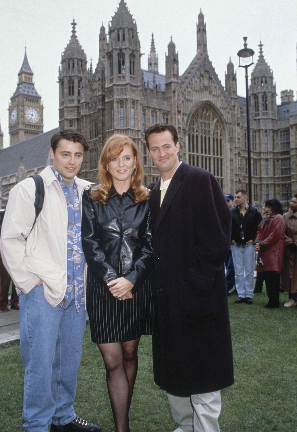 <p>The show was a royal hit when the entire cast traveled to London for Ross and Emily's infamous nuptials—so much so that the Duchess of York, Sarah Ferguson, made a cameo in a scene with Matt LeBlanc. </p>