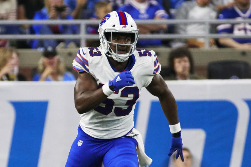 Buffalo Bills linebacker Tyrel Dodson has been suspended six games for a May domestic violence incident. (AP)