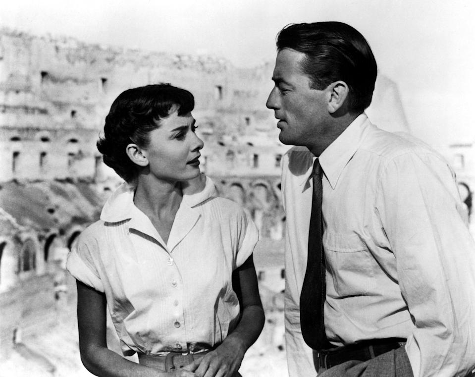 """<p>When I was a kid and home sick from school, my mom and I would watch <em>Roman Holiday.</em> Stars Gregory Peck and Audrey Hepburn are so beautiful, and the plot about a princess falling in love with a journalist so romantic. My grandma loved it, too. –<em>Elizabeth Logan, contributor</em> </p> <p><a href=""""https://www.amazon.com/Roman-Holiday-Audrey-Hepburn/dp/B000MYFILK"""" rel=""""nofollow noopener"""" target=""""_blank"""" data-ylk=""""slk:Stream it on Paramount+"""" class=""""link rapid-noclick-resp""""><em>Stream it on Paramount+</em></a></p>"""