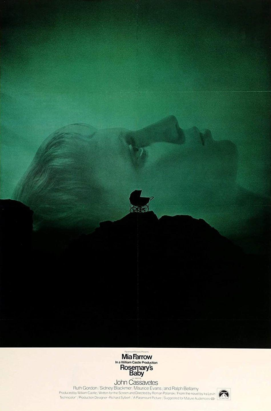 """<p>Are you ready to freak yourself the heck out? Get to streaming <em>Rosemary's Baby</em>, the iconic cult classic '60s flick. The plot follows an expecting young mom Rosemary Woodhouse who starts to suspect she's been impregnated by Satan and is carrying his spawn. Terror ensues. </p><p><a class=""""link rapid-noclick-resp"""" href=""""https://www.amazon.com/Rosemarys-Baby-Mia-Farrow/dp/B000I9W272?tag=syn-yahoo-20&ascsubtag=%5Bartid%7C10070.g.37360837%5Bsrc%7Cyahoo-us"""" rel=""""nofollow noopener"""" target=""""_blank"""" data-ylk=""""slk:WATCH NOW"""">WATCH NOW</a></p>"""
