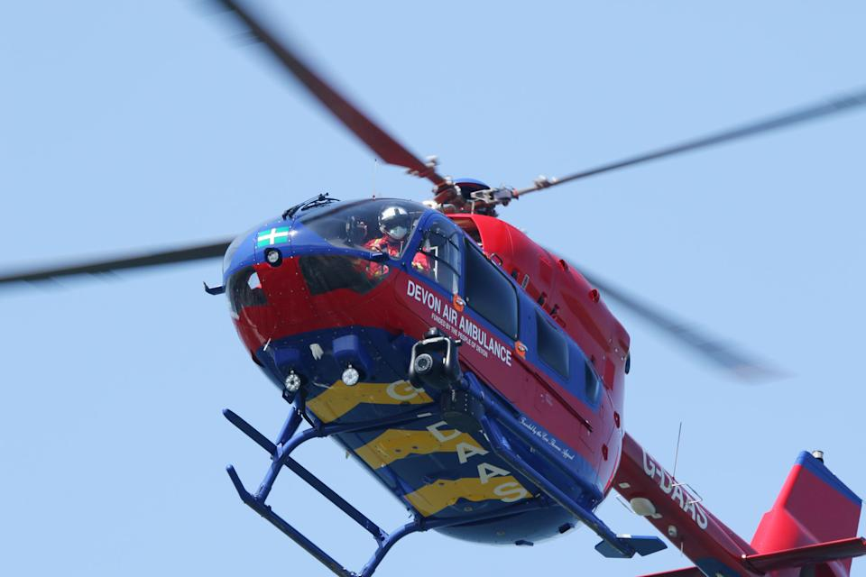 Police, two air ambulances, coastguard and an ambulance were all called to the scene on Saturday. (SWNS)