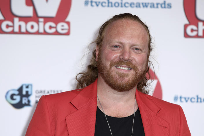 Comedian Leigh Francis poses for photographers on arrival at the TV Choice Awards in central London on Monday, Sept. 9, 2019. (Photo by Grant Pollard/Invision/AP)