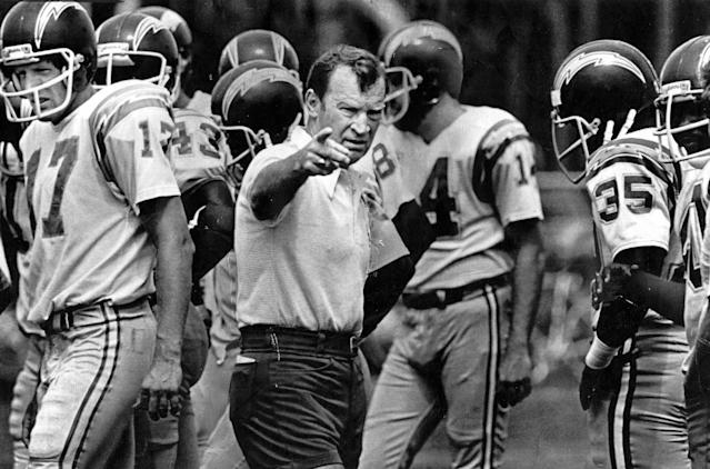 Don Coryell was an offensive genius with the Chargers. (Getty Images)