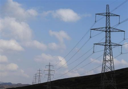 Electricity pylons are seen near DalwhinnieScotland