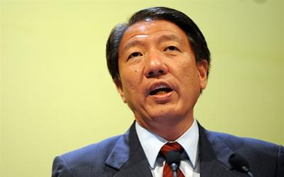 "DPM Teo said that the PAP is the ""real insurance policy"" that Singaporeans should buy. (AFP Photo)."
