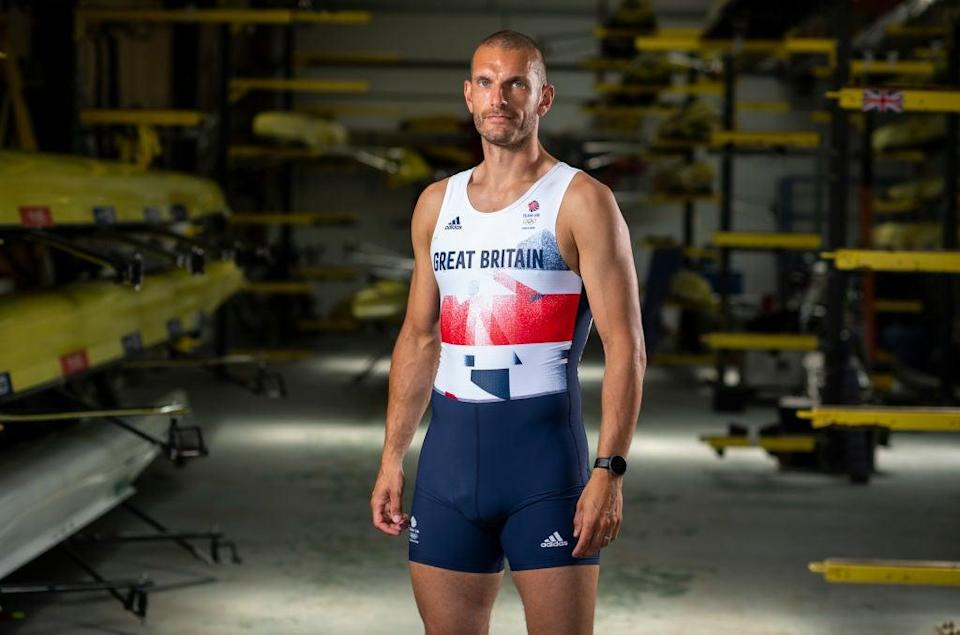 Sbihi carried in the Union Jack for Team GB (Getty Images for British Olympic)