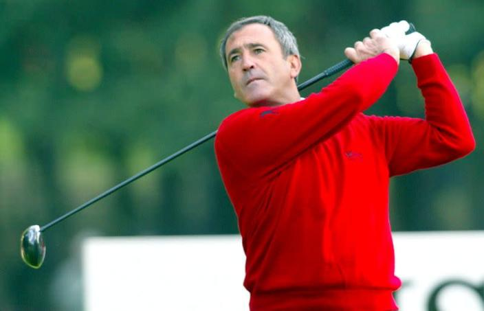 FILE PHOTO: SEVE BALLESTEROS TEEING OFF ON FOURTH GREEN DURING WORLD MATCH PLAY PR0-AM AT WENTWORTH.