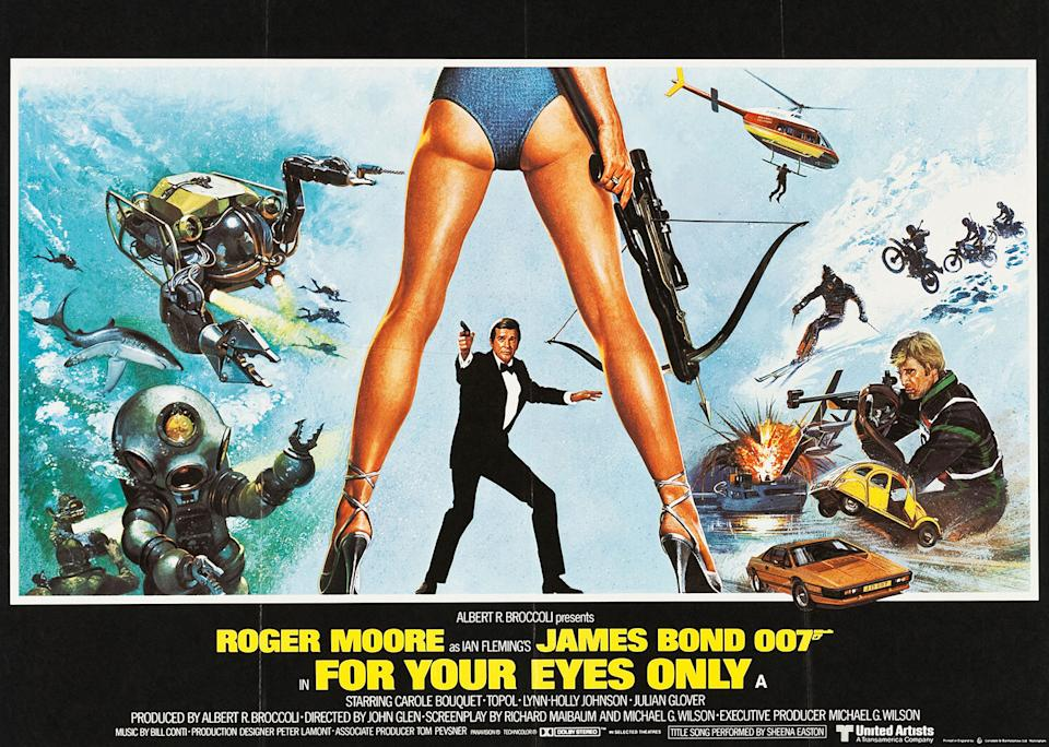 After the excesses of <em>Moonraker</em>, Bond went back to basics – and to the books – for a stripped back espionage thriller with great results. (Eon/MGM)