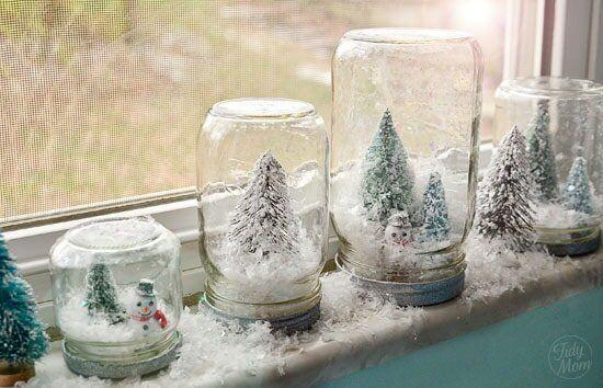 """You can even shake them up and make it snow.&nbsp;Learn how to make it at <a href=""""http://tidymom.net/2011/waterless-snow-globes-tutorial/"""" target=""""_blank"""" rel=""""noopener noreferrer"""">Tidy Mom</a>."""