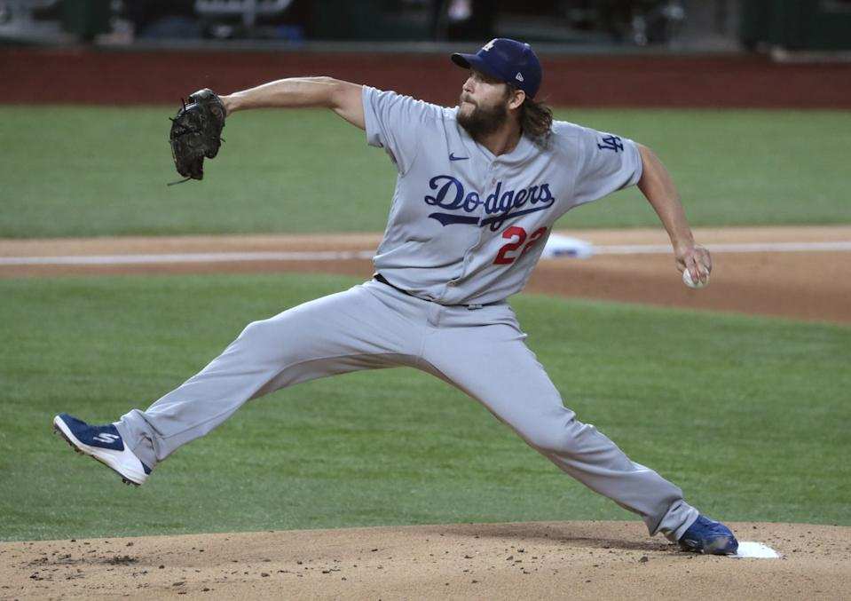 Dodgers pitcher Clayton Kershaw pitches.