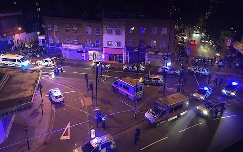 The scene at on the night of the terror attack in North London