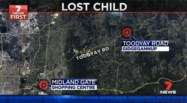Tyler was found 25km away in the back of his mother's car. Picture: 7 News