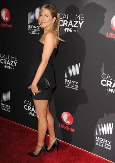Jennifer Aniston arrives at the World Premiere Of The Lifetime Original Movie Event 'Call Me Crazy: A Five Film' at Pacific Design Center on April 16, 2013 in West Hollywood, California -- WireImage