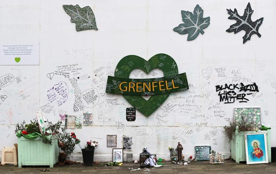 The Grenfell Memorial Wall (PA)