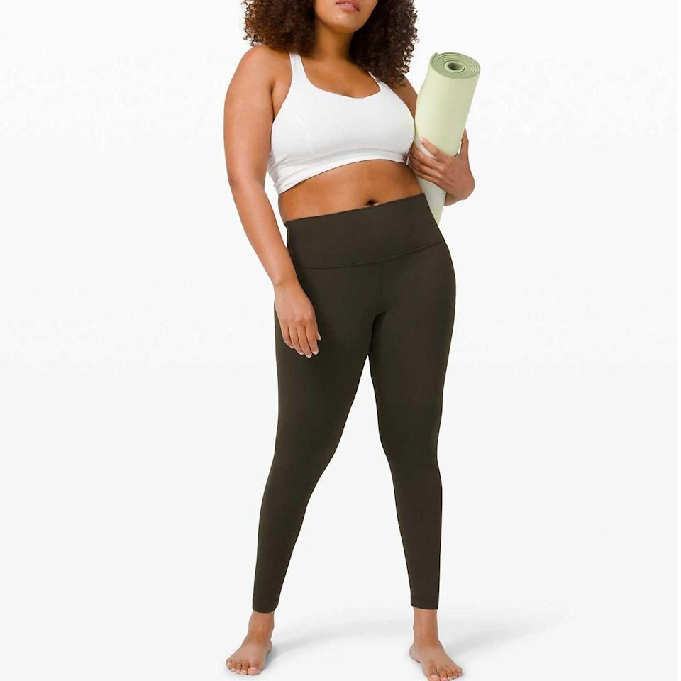 """<p><a class=""""link rapid-noclick-resp"""" href=""""https://go.redirectingat.com?id=74968X1596630&url=https%3A%2F%2Fshop.lululemon.com%2Fsearch%3FNtt%3Dmaternity&sref=https%3A%2F%2Fwww.goodhousekeeping.com%2Fchildrens-products%2Fg34481970%2Fbest-maternity-clothes%2F"""" rel=""""nofollow noopener"""" target=""""_blank"""" data-ylk=""""slk:SHOP NOW"""">SHOP NOW</a></p><p>While not designed specifically as maternity activewear, Lululemon's workout clothes are<strong> favorites among pregnant moms for being comfortable and stretchy. </strong>The <a href=""""https://go.redirectingat.com?id=74968X1596630&url=https%3A%2F%2Fshop.lululemon.com%2Fp%2Fwomen-pants%2FAlign-Pant-Full-Length-28%2F_%2Fprod8780551&sref=https%3A%2F%2Fwww.goodhousekeeping.com%2Fchildrens-products%2Fg34481970%2Fbest-maternity-clothes%2F"""" rel=""""nofollow noopener"""" target=""""_blank"""" data-ylk=""""slk:Align Pant"""" class=""""link rapid-noclick-resp"""">Align Pant</a> in particular is popular for pregnancy with smooth and lightweight fabric that conforms to your body almost like magic. For up top, the <a href=""""https://go.redirectingat.com?id=74968X1596630&url=https%3A%2F%2Fshop.lululemon.com%2Fp%2Fwomen-sports-bras%2FEnlite-Bra%2F_%2Fprod8555508&sref=https%3A%2F%2Fwww.goodhousekeeping.com%2Fchildrens-products%2Fg34481970%2Fbest-maternity-clothes%2F"""" rel=""""nofollow noopener"""" target=""""_blank"""" data-ylk=""""slk:Enlite Bra"""" class=""""link rapid-noclick-resp"""">Enlite Bra </a>offers high-impact support without restricting your range of motion.</p>"""