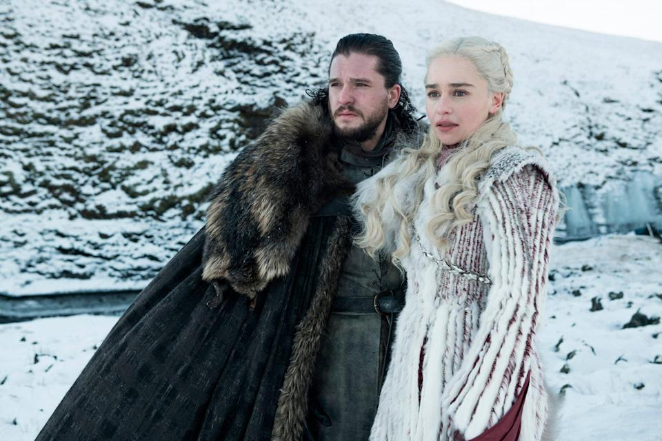 Even Jon and Dany can't believe that bit with the ice giant (credit: HBO)
