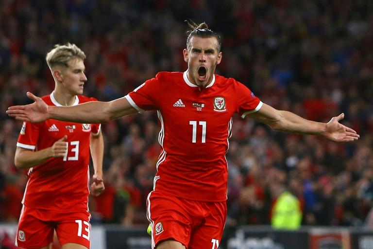 Gareth Bale celebrates after scoring for Wales in their 4-1 win over the Republic of Ireland