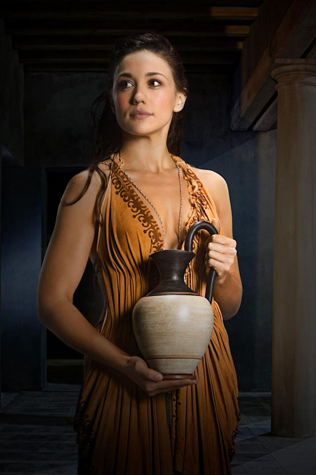 "Jenna Lind as Kore in ""Spartacus: War of the Damned"" on Starz."