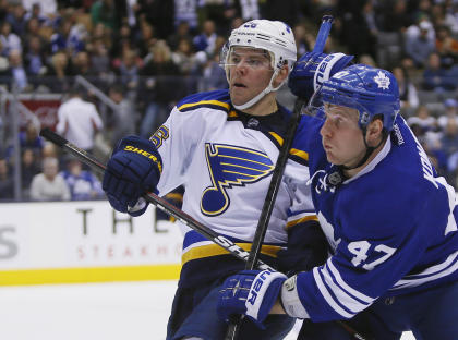 Stastny helps give the Blues three balanced scoring lines. (USA Today)