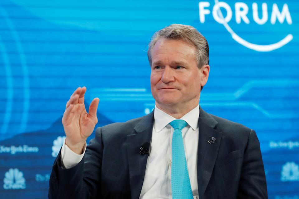 Bank of America CEO Brian Moynihan attends the World Economic Forum (WEF) annual meeting in Davos, Switzerland, January 22, 2019. REUTERS/Arnd Wiegmann