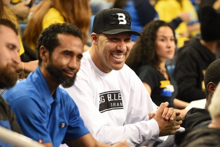 LaVar Ball is shown during a UCLA game during the regular season. (Getty)