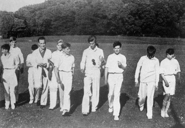 Philip with the cricket team