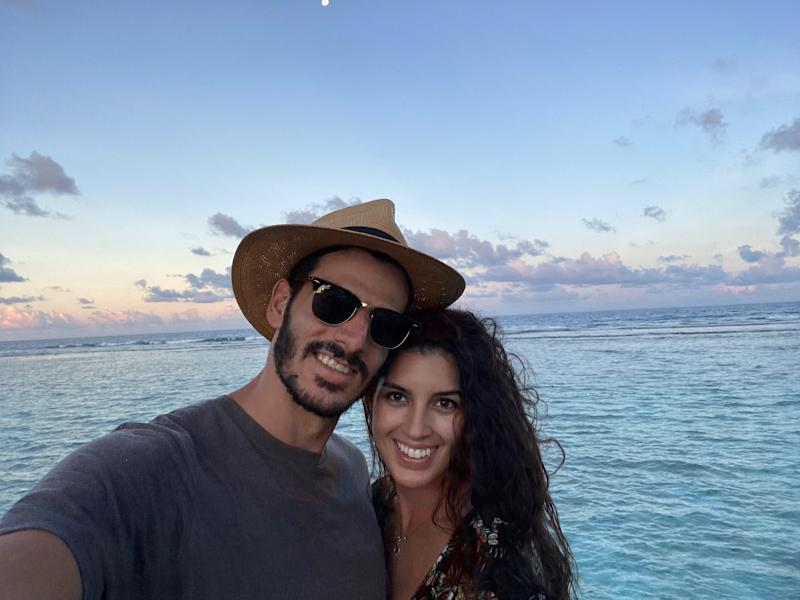 Raul and Olivia De Freitas were vacationing in the Maldives for their honeymoon when they suddenly found themselves stranded, due to the coronavirus crisis (Photo: Courtesy of Raul and Olivia De Freitas)