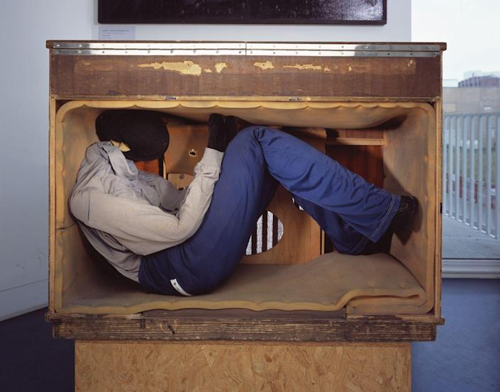 <p>Back in the early days of electronics, audio equipment providing options for concealment for refugees flexible enough to pack themselves in. Successful escapes were carried out in this old-fashioned wooden radio case, and in the outsize speakers carried by a touring musician.</p>