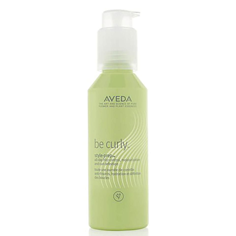 "<h3><strong>Product Pick: Aveda Be Curly Styling Prep</strong></h3><br>Define your natural texture with a lightweight lotion or cream to add hydration while tempering <a href=""https://www.refinery29.com/en-us/best-anti-frizz-serum"" rel=""nofollow noopener"" target=""_blank"" data-ylk=""slk:frizz"" class=""link rapid-noclick-resp"">frizz</a> and flyaways."