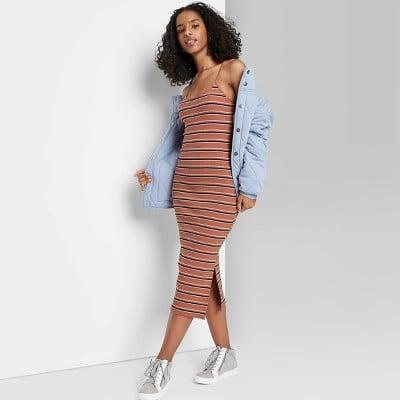 <p>Wear this <span>Wild Fable Rib-Knit Dress</span> ($15) with your go-to denim jacket and comfortable sneakers.</p>