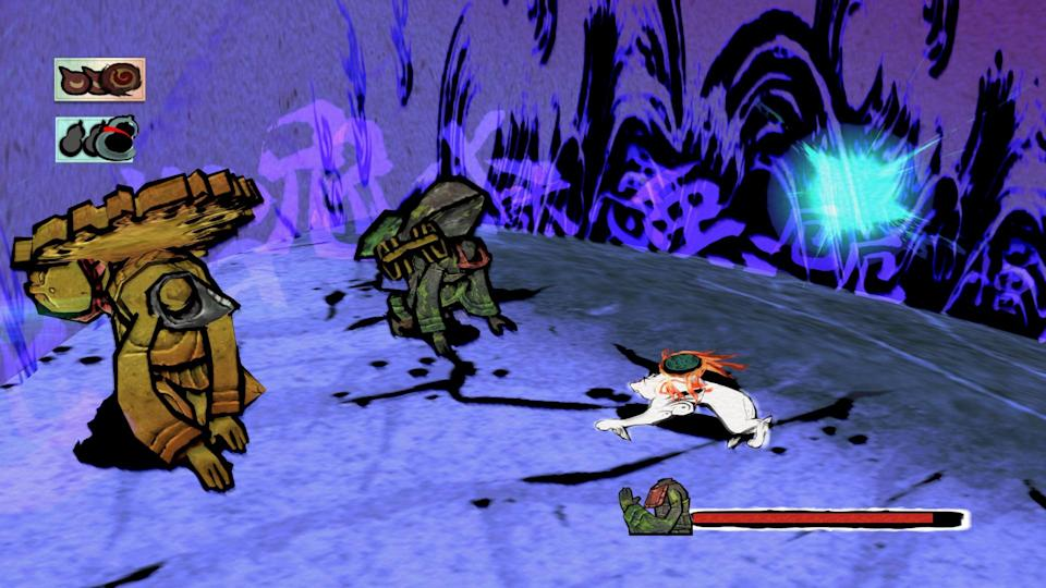 'Okami' sees you take on the role of the goddess Amaterasu in the form of a white wolf.