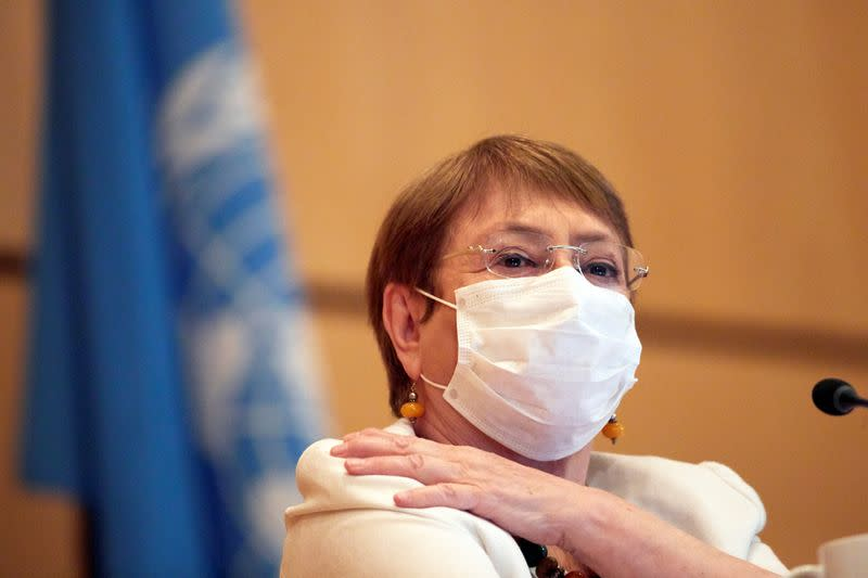 U.N. High Commissioner for Human Rights Bachelet attends the Human Rights Council in Geneva