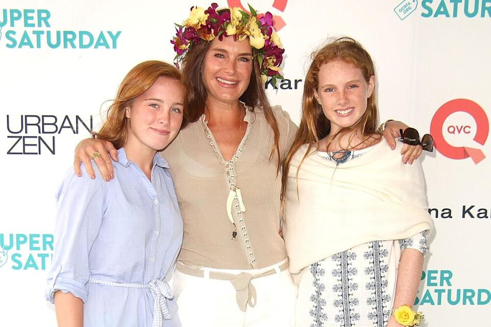 Rowan Henchy, Brooke Shields, and Grier Henchy   Sonia Moskowitz/WireImage