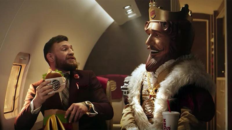 McGregor's new ad for Burger King. Pic: Youtube