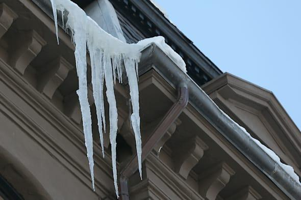 Falling Icicles Pose Danger