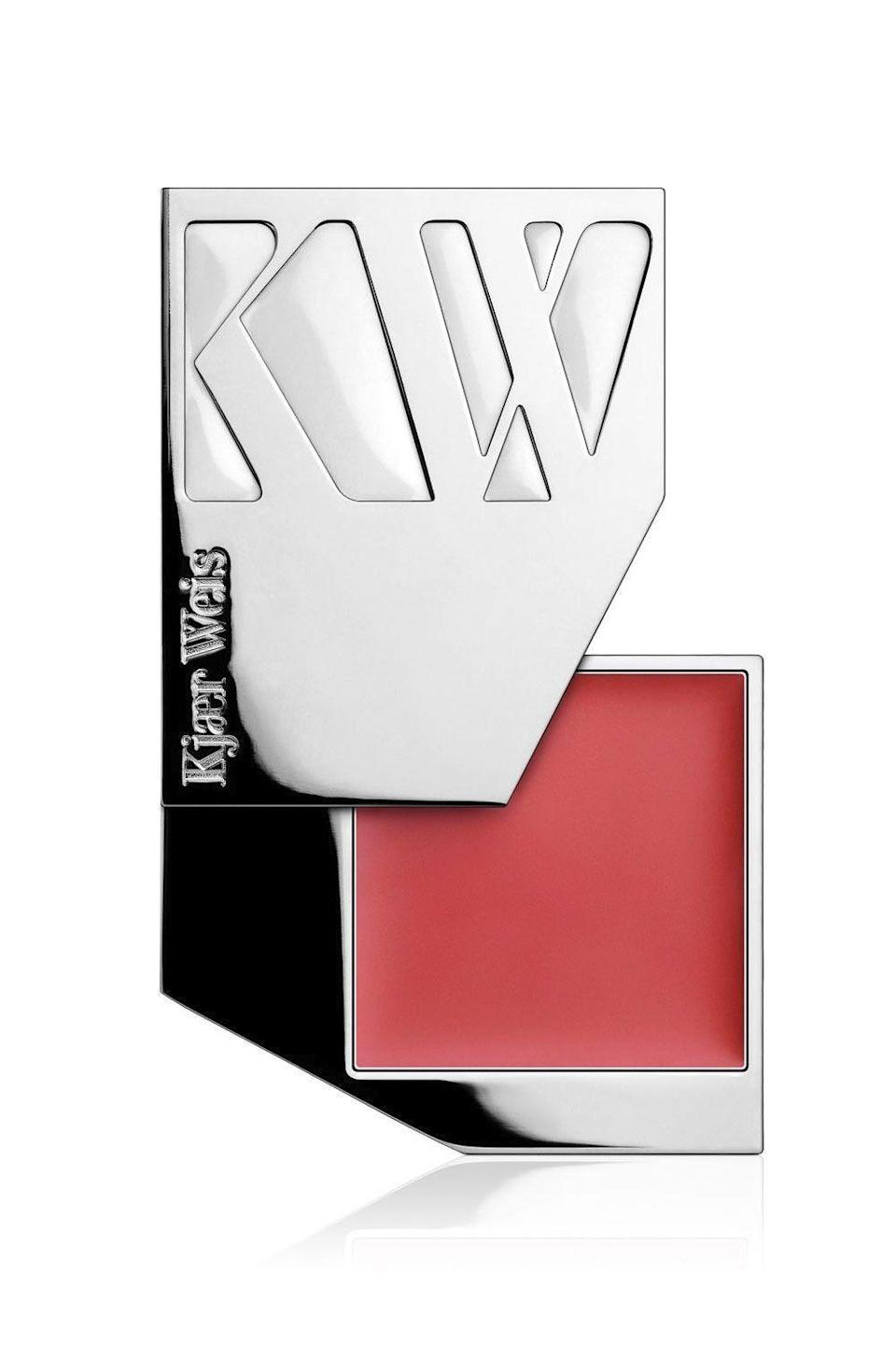 "<p><strong>Kjaer Weis</strong></p><p>kjaerweis.com</p><p><strong>$32.00</strong></p><p><a href=""https://kjaerweis.com/products/cream-blush-iconic-edition-blossoming"" rel=""nofollow noopener"" target=""_blank"" data-ylk=""slk:Shop Now"" class=""link rapid-noclick-resp"">Shop Now</a></p><p>Thanks to a waxy formula that stays put, you won't have to worry about this <a href=""https://www.cosmopolitan.com/style-beauty/g28219267/best-cream-blushes/"" rel=""nofollow noopener"" target=""_blank"" data-ylk=""slk:cream blush"" class=""link rapid-noclick-resp"">cream blush</a> ghosting your cheeks. Don't get confused—waxy doesn't equal heavy. The blend of sweet almond and jojoba seed oil means that<strong> the pigmented shade melts right into your skin,</strong> giving your face a nice, warm glow. <strong><br></strong></p><p><strong>✨ PROMOTION:</strong> 15% off with promo code <strong>HAULIDAY</strong></p>"