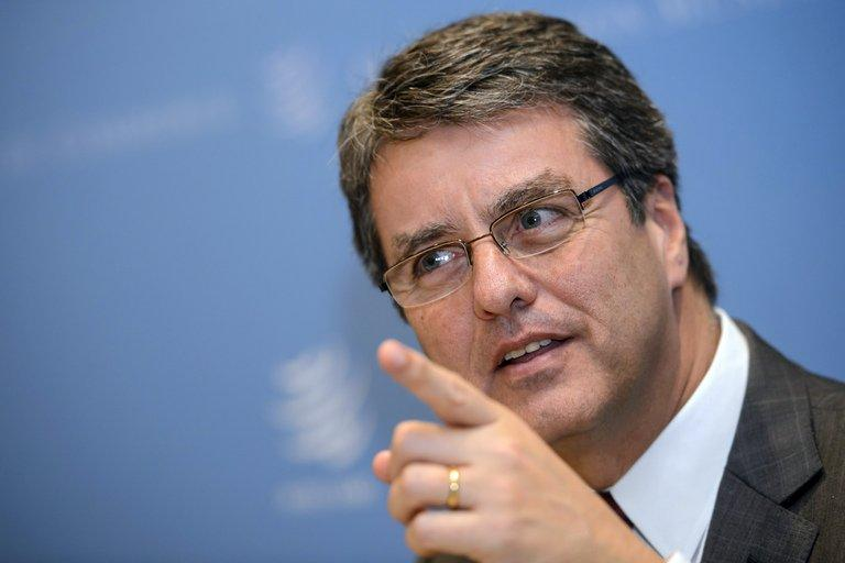 Brazil's WTO ambassador Roberto Azevedo is shown January 31, 2013 in Geneva. WTO is interviewing nine candidates to replace Pascal Lamy as director general