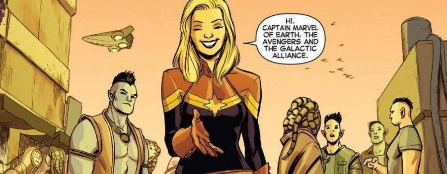 captain marvel introducing herself