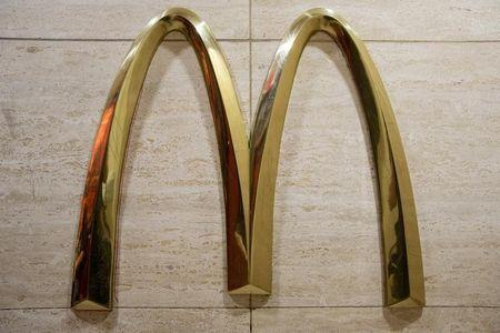 The McDonald's 'golden arches' are displayed in a restaurant in New York