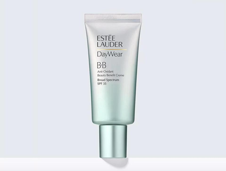 """<p>Much like being on holiday, no one wants to wear a heavy layer of foundation when they're dancing around all day in the sun. Our alternative? Opt for a lightweight BB cream like Estee Lauder DayWear, which will give you that much-needed bit of coverage while feeling moisturising an light. <br><a rel=""""nofollow noopener"""" href=""""https://www.esteelauder.co.uk/product/681/20671/Product-Catalog/Skincare/DayWear/Anti-Oxidant-Beauty-Benefit-BB-Creme-SPF-35#/shade/Shade-1"""" target=""""_blank"""" data-ylk=""""slk:Buy here."""" class=""""link rapid-noclick-resp"""">Buy here.</a> </p>"""