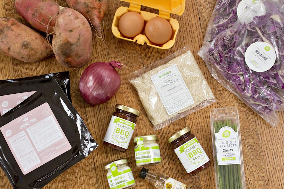 Hello Fresh, whose ingredients are pictured here, now has a bigger market share than Blue Apron. Image: Getty