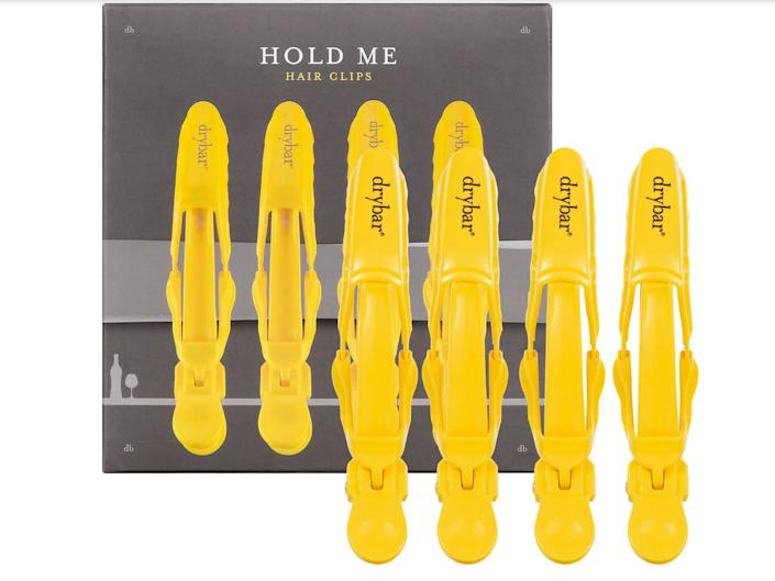 """These <a href=""""https://fave.co/2y6xk3b"""" rel=""""nofollow noopener"""" target=""""_blank"""" data-ylk=""""slk:DRYBAR Hold Me Hair Clips"""" class=""""link rapid-noclick-resp"""">DRYBAR Hold Me Hair Clips</a> securely hold large sections of hair so you can separate and style with ease. Find them for $16 at <a href=""""https://fave.co/2y6xk3b"""" rel=""""nofollow noopener"""" target=""""_blank"""" data-ylk=""""slk:Sephora"""" class=""""link rapid-noclick-resp"""">Sephora</a>."""