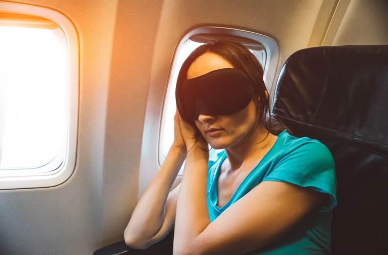 sleeping, sleeping on flights, how to sleep when travelling by flight, indian express, indian express news