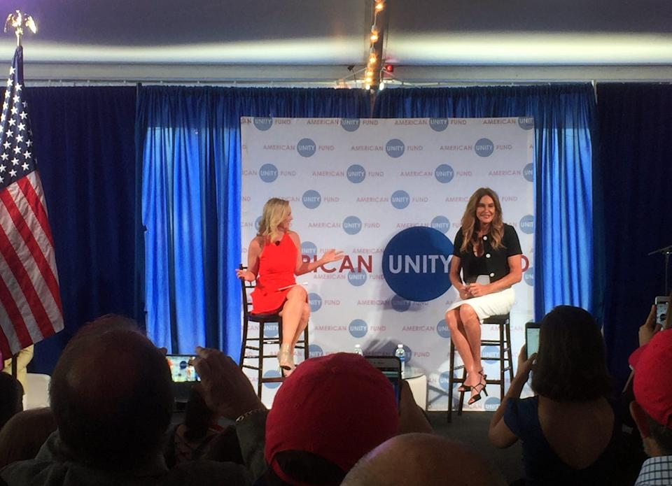 Caitlyn Jenner, right, in 2016 in Cleveland.