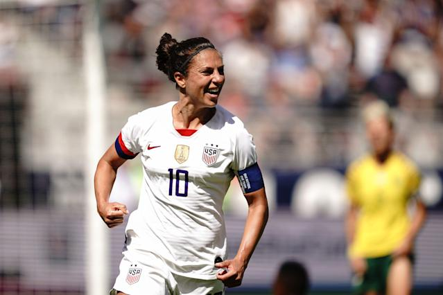 """<a class=""""link rapid-noclick-resp"""" href=""""/olympics/rio-2016/a/1124307/"""" data-ylk=""""slk:Carli Lloyd"""">Carli Lloyd</a> might not be the star she was in 2015, but she's more than ready to help the U.S. women's national team repeat in France. (Getty)"""