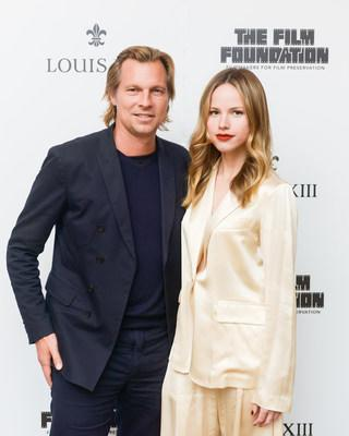 Ludovic du Plessis and Halston Sage at the release of