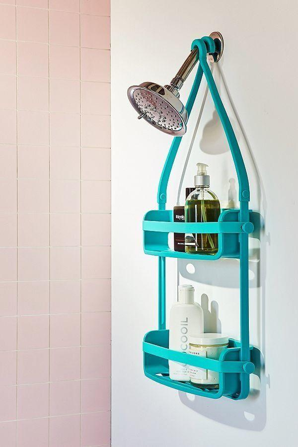 "Get it <a href=""https://www.urbanoutfitters.com/shop/preston-flex-shower-caddy?category=bathroom-accessories&color=045"" target=""_blank"">here</a> for $24."