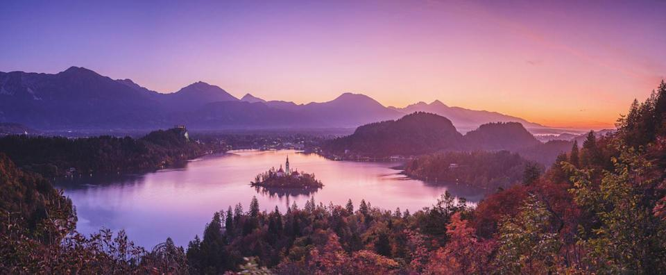 <p>This church on the island in the center of Lake Bled looks like something out of a fairy tale all the time, but it's truly a magical sight in the morning. </p>